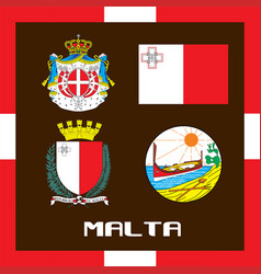 Official government ensigns of malta vector