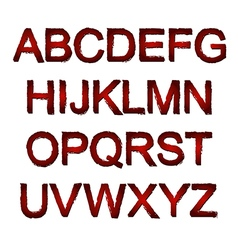 Red font vector