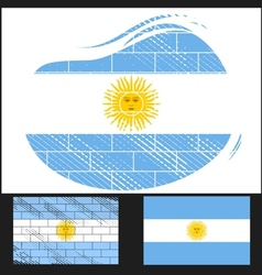 Scratched flag of Argentina vector image vector image