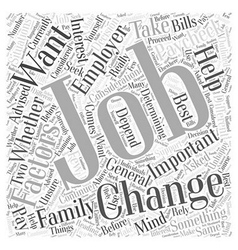 Should you change jobs word cloud concept vector