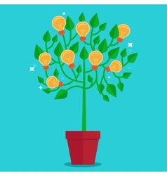 tree concept in flat style - vector image