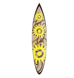 Isolated surfboard vector