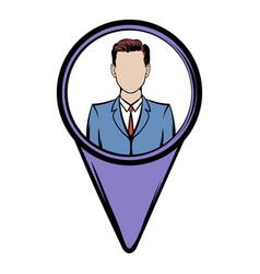 Location people icon cartoon vector