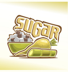 Logo of sugar vector