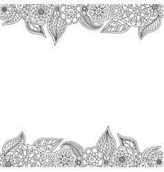 Seamless decorative border of floral elements vector