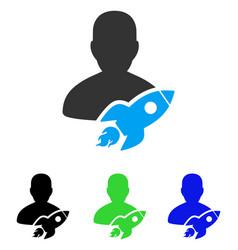 Startuper flat icon vector