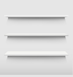 White shelf vector