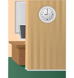 Office morning vector image