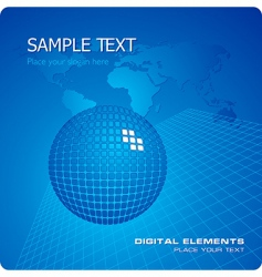 stylish business template vector image