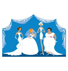 Different brides vector image