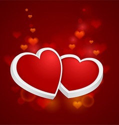 Heart with rim vector