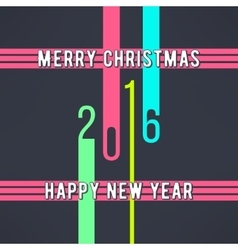 Christmas and new year background made in vector