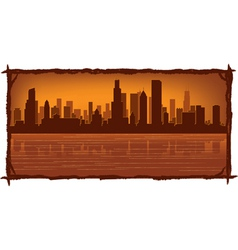 Chicago skyline vector