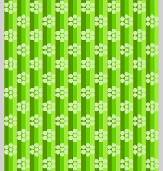 Flowers on green lines vector
