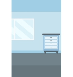 Background of doctor office vector image