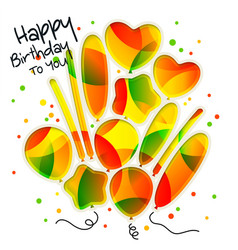 Birthday card in the style of cutouts with vector