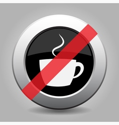 Gray chrome button - no cup with smoke vector
