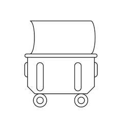 Industrial wheelie bin icon outline style vector