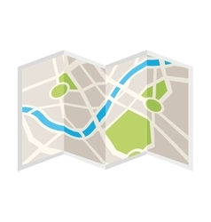 paper map isolated icon design vector image