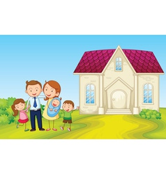 Cartoon family house vector