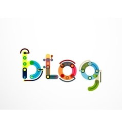 Blog word lettering banner vector