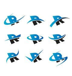 Alphabet r logo icons vector