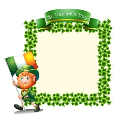 An empty frame for St Patricks day vector image vector image