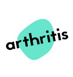 Arthritis sticker stamp vector