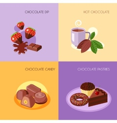 Chocolate icons flat vector