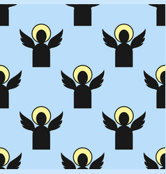 christianity religion angelsseamless pattern vector image