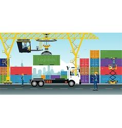 Container Cranes vector image vector image