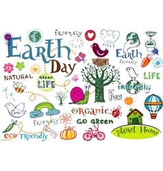 Earth day set vector