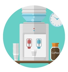 Flat icon for office water cooler vector
