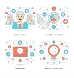 Flat line Management Finance Accounting vector image vector image