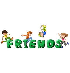Font design for word friends vector image vector image