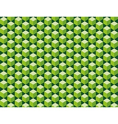 Green cubes seamless texture vector image