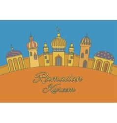 Greeting card ramadan kareem vector