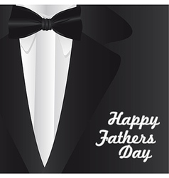 Happy Fathers Day holiday card with formal suit an vector image