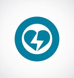 heart lightning icon bold blue circle border vector image
