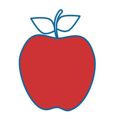 isolated apple fruit vector image
