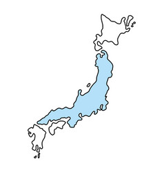 japan map silhouette vector image
