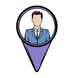 location people icon cartoon vector image