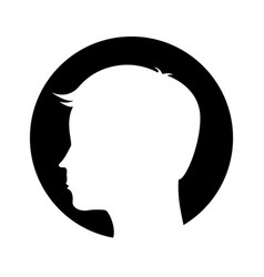 Male profile silhouette icon vector