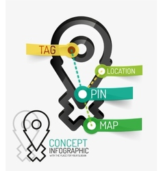 Navigation infographic keywords line style vector image vector image