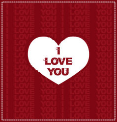 Red I love you card vector image vector image