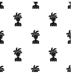 Samba dancer icon in black style isolated on white vector