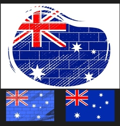 Scratched flag of Australia vector image