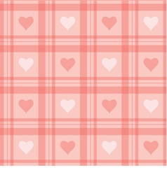 seamless background Pink checkered wallpaper with vector image vector image