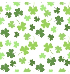 Seamless shamrock background for St vector image vector image