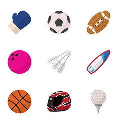 Set of 9 editable active flat icons includes vector
